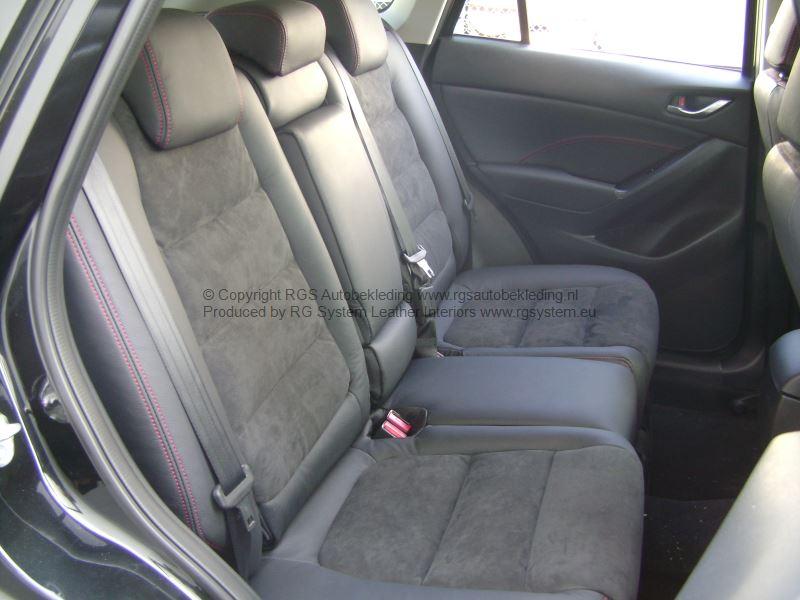 rgs exclusieve autobekleding cx 5 rgsystem leder 001 met alcantara en rood stiksel mazda. Black Bedroom Furniture Sets. Home Design Ideas