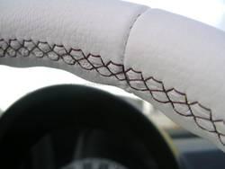 Highlight for album: Lederen bekleding, close-ups. Hier ziet U het vakmanschap tot in detail..Automotive leather upholstery in details.